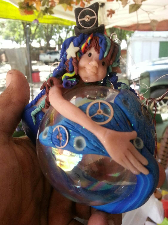 Ooak Handmade Clay Steampunk Mermaid gears by Rosie Bair steampunk buy now online