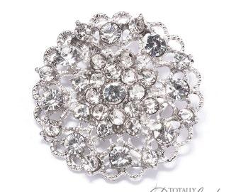 40pcs Wholesale Brooch Rhinestones, Wedding Invite Accessory Hair Clips Bridal Sashes Bouquet Supplies Wedding Bling Diamante, Brooch 405-S