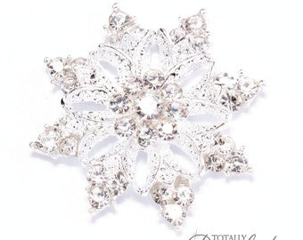 75pcs Wholesale Snowflakes, Rhinestone Snowflake Embellishments for Winter Wedding Invitations and DIY Wedding Project,Flat Back 541-S