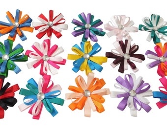 "15 Pc Wholesale lot 3.5"" Boutique Bow for Girl Hair Accessories with Alligator Clip"