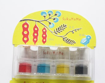 soramame versacraft ink pad set. rubber stamps ink pads. multipurpose ink pads for paper fabric wood. acid free / non toxic. small. modern