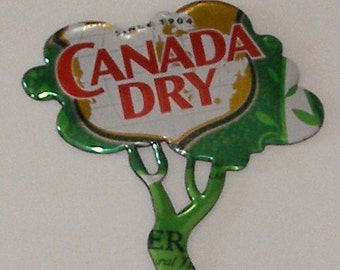 TREE Magnet - CANADA DRY Ginger Ale Soda Can (Replica)
