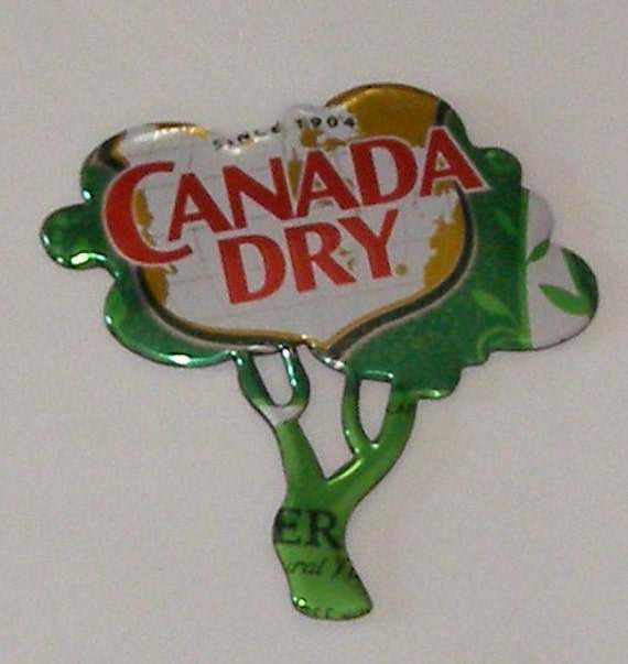 TREE Magnet CANADA DRY Ginger Ale Soda Can by SodaCanBuddies