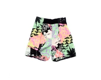 Wicked 80 Deadstock Cotton Velcro Waist Surf Shorts - 26 to 29