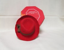 Vintage Dobbs Fifth Avenue Hats Promotional Red Had New York Advertisement Advertising