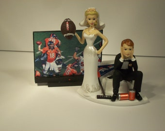 wedding cake toppers denver co bronco cake topper etsy 26450