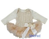 Girl Baby  Rosette Tutu Onesie Dress