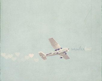 White Airplane, N6242F, White Plane, Wanderlust Print, Wanderlust Art, Wanderlust Photo, Propeller Plane, Airplane Photography, Airplane Art