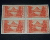 US stamps 1934 National Park block of 4  Glacier National Park  Montana Mint unused