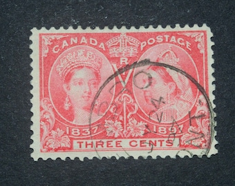 Canadian stamp 1897 #52 very rare in fine condition