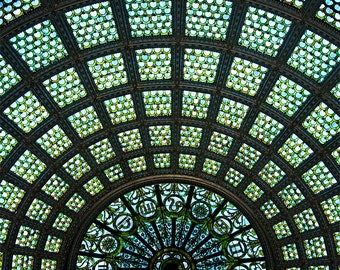 1897 Tiffany Glass Dome - Chicago Cultural Center, Fine Art Photography