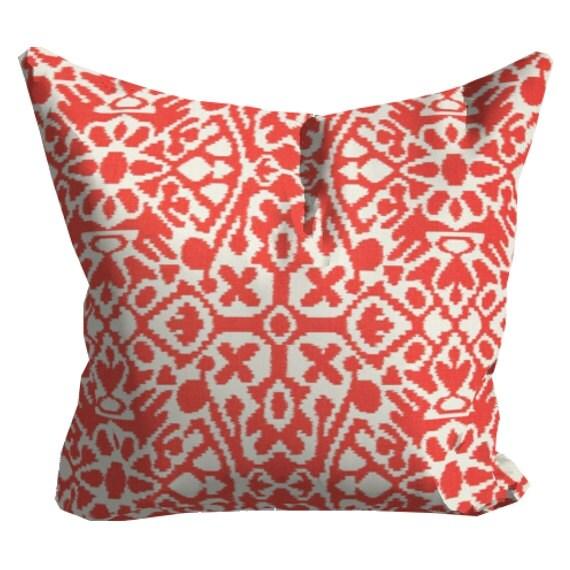 Coral Sofa Pillow: Items Similar To Salmon Coral Decorative Pillows, Coral