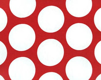 Red and White Polka Dot Pillow - Throw Pillow Cover - Decorative Pillow Cover - Large Dot Christmas Pillow Cover