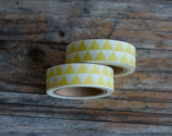 Washi Tape - Yellow Triangle Masking Tape