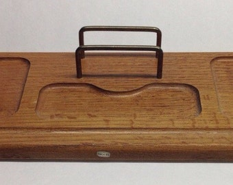 Vintage Valet Tray Wooden Dresser Vintage Made in Taiwan