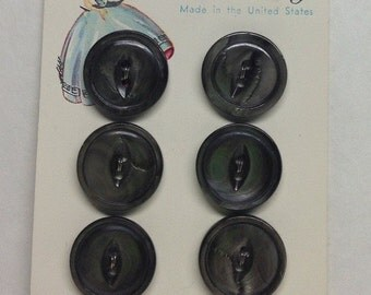 Vintage Luckyday Black Pearl  Sewing Buttons