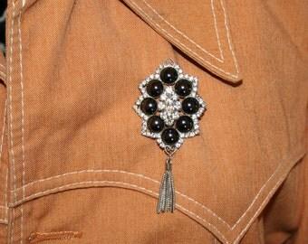 Brooch Jewels Diamonds Silver Pin