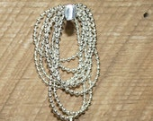 Sterling Silver Ball Chain .925 Chain for Baby Belly Bell Maternity Necklace
