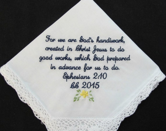 Embroidered Handkerchief for a dear friend
