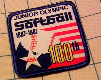 ASA Junior Olympic Softball 100th Anniversary Patch from 1987