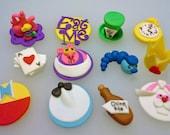 Deluxe Alice in Wonderland Cupcake/Cookie Toppers - 1 Dozen