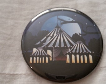 """The Night Circus Tents Illusionists Erin Morgenstern Book Pinback Button 2.25"""""""