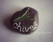 Herb Garden Rocks - Chives