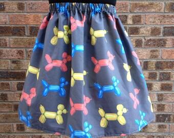 Balloon Dogs Skirt, Black