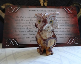 Hand Carved *OWL* Animal Spirit Totem for Spiritual Jewelry or Crafts