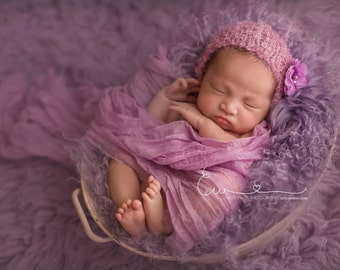 Baby Bonnet - 'DELIGHT' - Bliss bonnet line- newborn baby bonnet - photography prop - knitbysarah - stitches by sarah