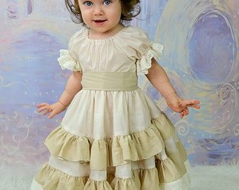Joy's lace twirly dress PDF Pattern for Babies size Newborn to 18/24 months