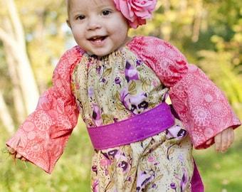 Baby Autumn's Peasant Romper PDF Pattern size newborn to 18/24months