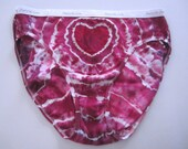 Red Violet Tie-dyed Heart Panties, Women's Size 8