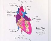 Anatomical heart card