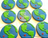 Welcome to the World Baby Shower Hand decorated sugar cookies (#2389)