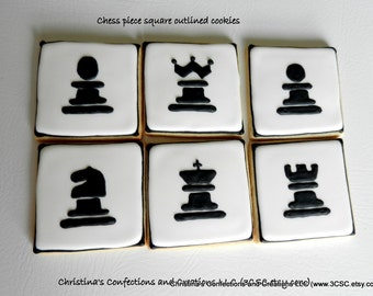 Chess Piece Hand decorated sugar cookies (#2369)