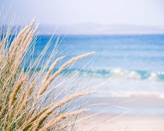 beach photography nautical decor coastal prints ocean photography 8x10 24x36 fine art photography nature sand dunes periwinkle blue cream