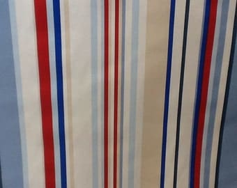 Harlequin rush fabric by the metre in strawberry, cornflower and neutrals