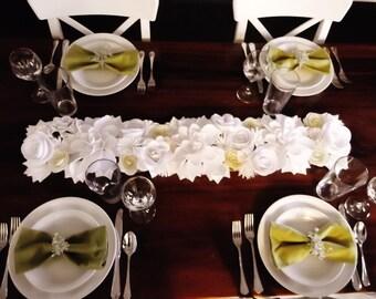 Paper Flower Table Runner, Centerpiece
