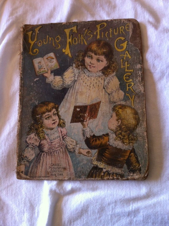 Vintage Children S Book Cover ~ Vintage childrens book cover young folks picture gallery