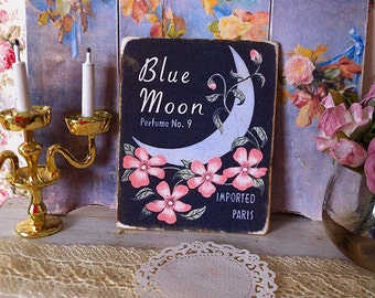 Blue Moon Sign/Print for Dollhouse