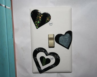 Inlay Hearts switchplate