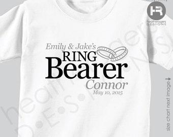 Ring Bearer Shirt or Bodysuit - Personalized Wedding Shirt