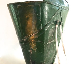 Vintage Galvanized Grape Gathering Basket / tub