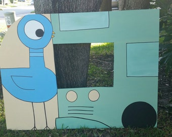 Don't Let the Pigeon Drive the Bus - Mo Willems Themed Photo Prop -  Event and Party Decoration
