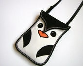 iPhone 6s Plus Bag Penguin Neck Case Smartphone Cover Small Cross Body Purse Padded Cellphone Cover cute small sling bag Hipster Black White