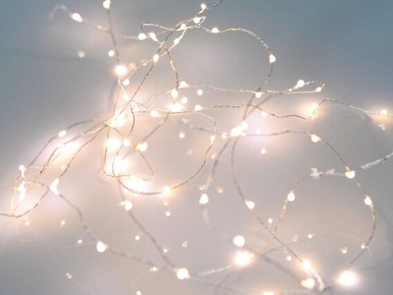 Fairy lights microdrop led string warm white mini for Led craft christmas lights