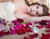"SALE - Thin Narrow Diamond Wedding Headband - Fatima Rhinestone Headband - .75"" wide platinum diamonds metal backing - Style HB611"