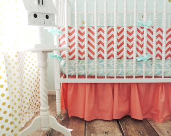 Boutique Baby Bedding, Coral Skirt Only