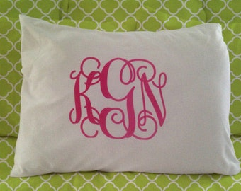 Personalized Monogrammed Pillow Case